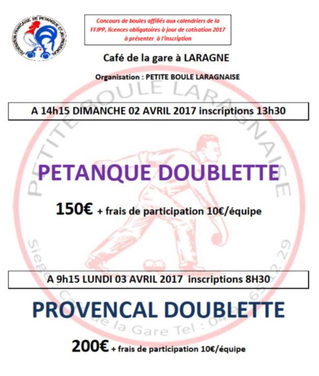Prochain Concours Boulodromme