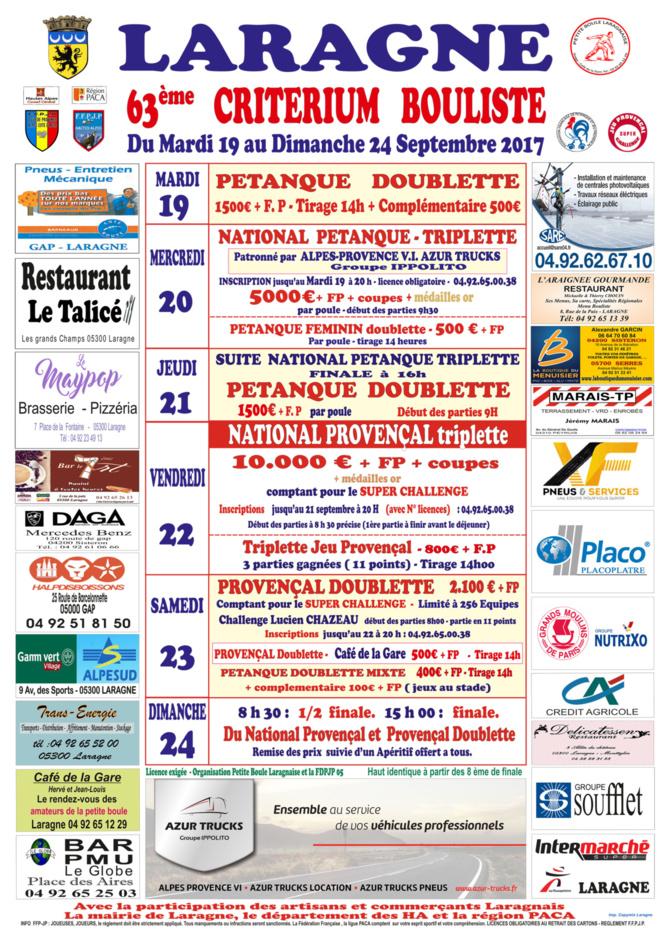 Affiche Criterium Bouliste 2017