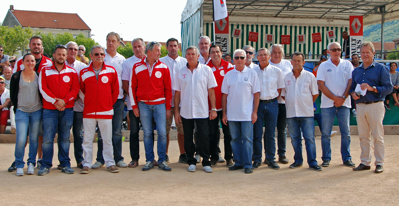 L'équipe Dirigente avant la Finale