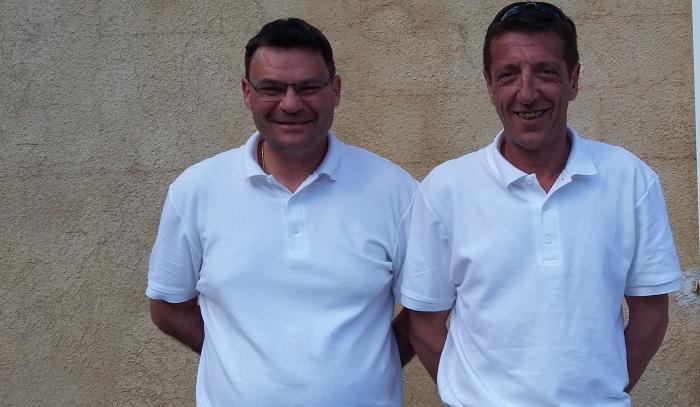 Félicitation a David Pocchiola et Colomd Boris de la Petite Boule Laragnaise pour leur parcours jusqu'au 1/4 de finale le 26 août à PALAVAS LES FLOTS