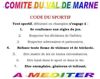 le Code du Sportif