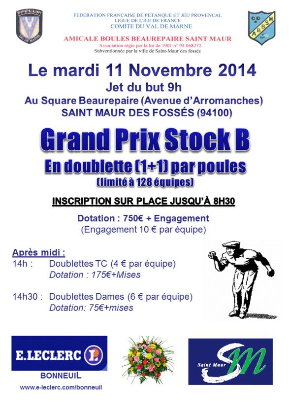 Grand Prix Stock B - Mardi 11 Novembre 2014