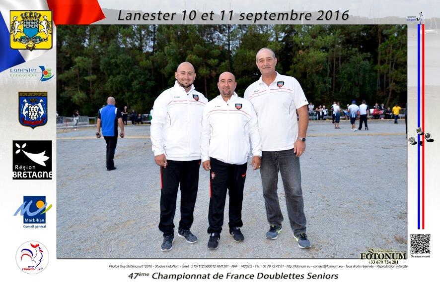 Lanester France  city images : Championnat de France Doublette à Lanester 10 & 11Septembre 2016