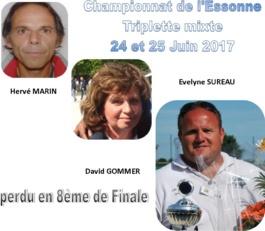 Championnat de l'Essonne triplette Mixte T.C.