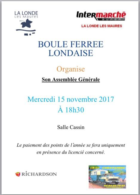 ASSEMBLÉE GÉNÉRALE DE LA BFL