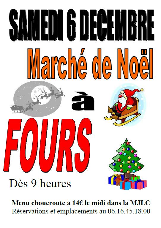 Inscriptions marché de Noël de Fours 2014