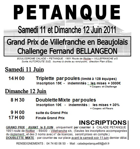 CHALLENGE FERNAND BELLANGEON