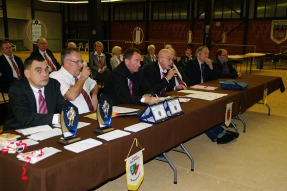 AG le président BACQUIE ALAIN au micro et la présence de Claude AZEMA président de la FIPJP et JEAN PAUL PEROTTO président du CD