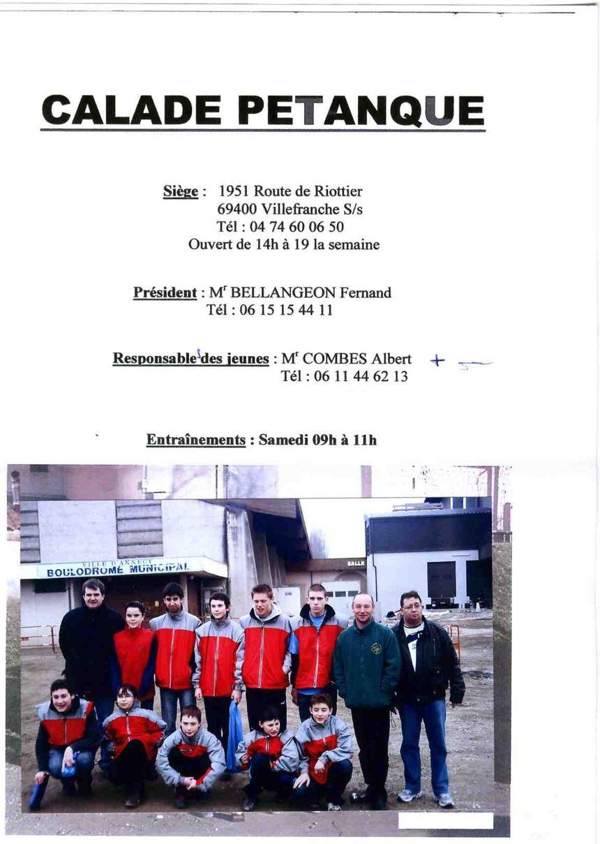 LA FORMATION DES JEUNES /                       PARTICIPANTS A ANNECY