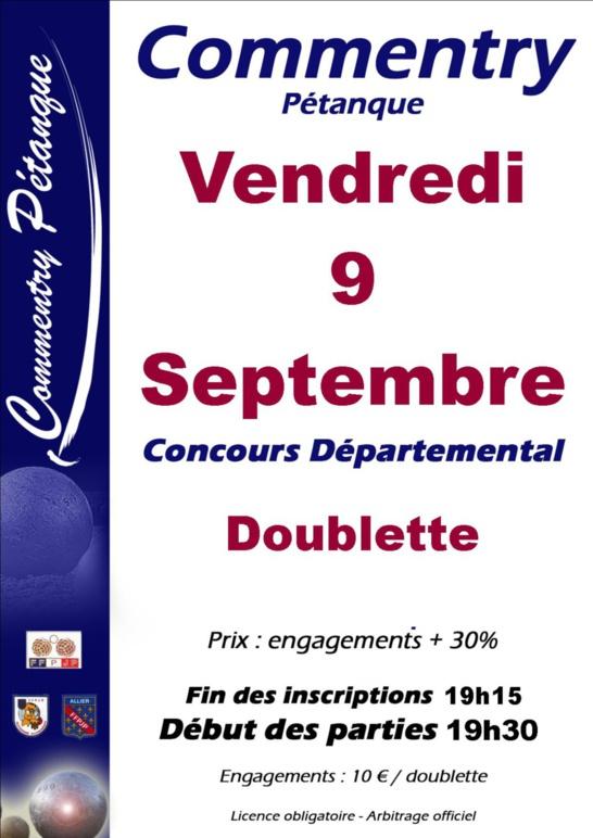 Concours doublette nocturne du 9 septembre 2016