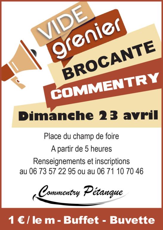 BROCANTE VIDE-GRENIER DU 23 AVRIL 2017