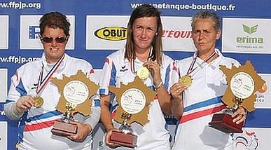 Championnat de France 2017 Triplettes Féminine les 01 & 02 juillet à Ax Les Thermes (09)