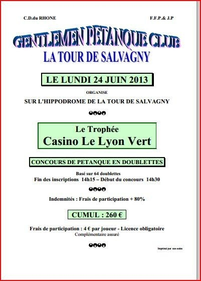 Concours doublettes du lundi 24 juin 2013