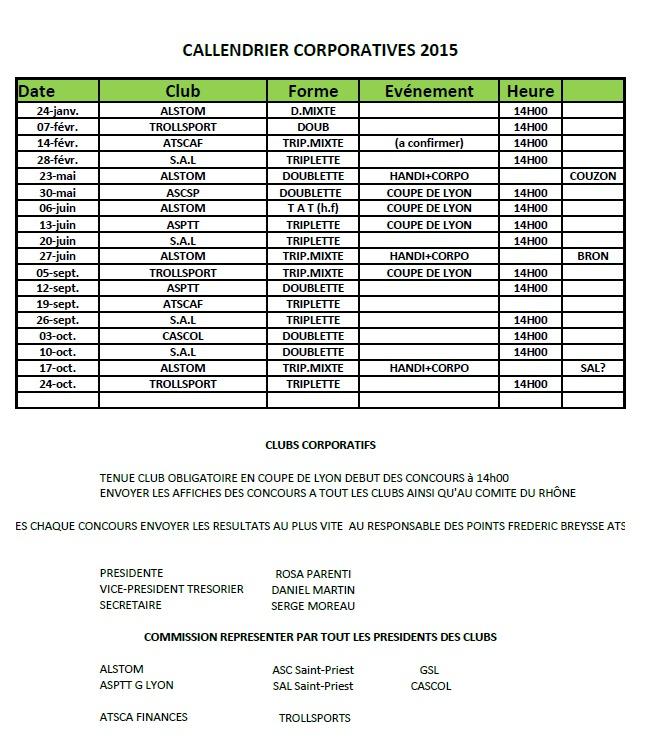 Championnat corpo 2015