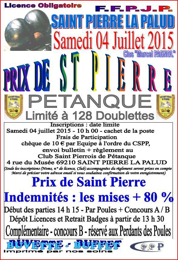 Concours prix de la ville le samedi 04 juillet saint for Prix de la pierre