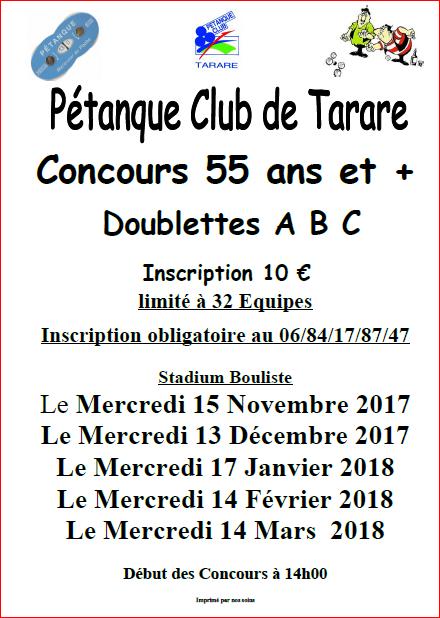 Calendrier 2017/2018   Concours 55 ans et plus à Tarare