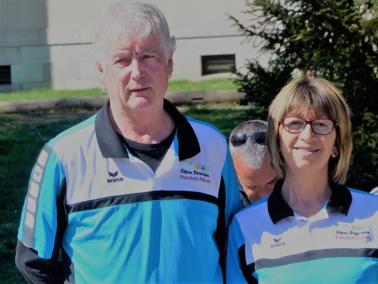 Jacques et Marie-france, vice-champions départementaux