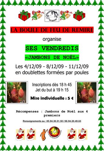 Gagnez des jambons de Noël à la Boule de Feu de Rémire !