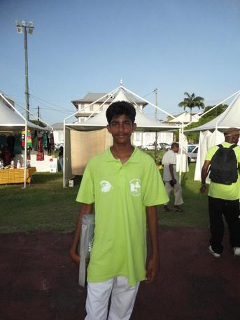 Brandon VAÏTILINGON de la Guadeloupe, Champion Antilles-Guyane 2011 en tête à tête