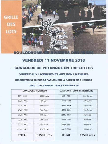 Le concours organisé chaque 11 Novembre par la Boule Basse-Terienne fait peau neuve, Culture, arts et Traditions seront de mise ce jour là.