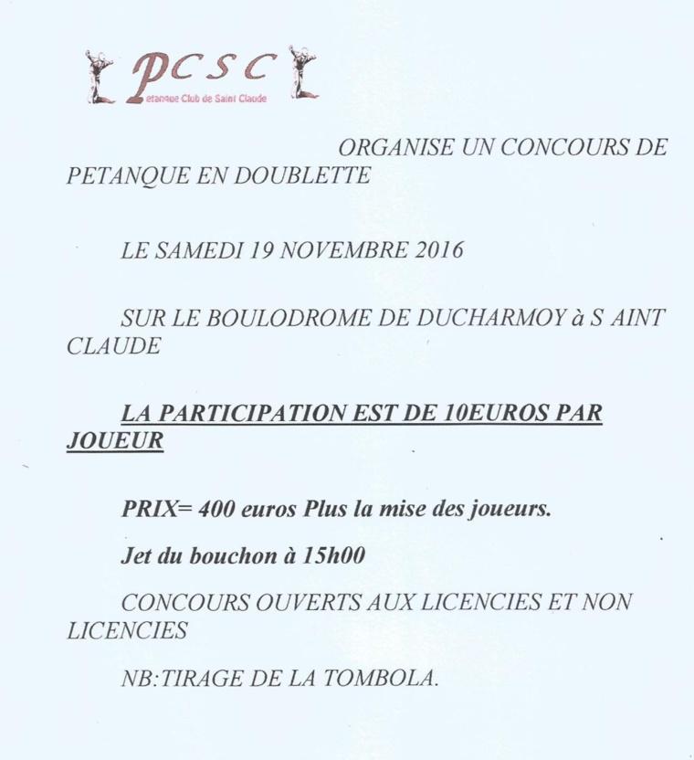 CONCOURS DU PC DE SAINT-CLAUDE