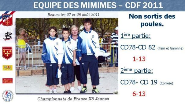 CHAMPIONNAT DE FRANCE 2011 MINIME- BEAUCAIRE (30)