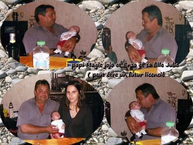 Papi magic jojo et Enzo et sa fille Julie