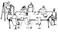 réunion des séniors hommes et femmes