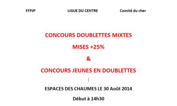Concours doublettes mixtes et jeunes