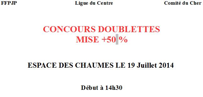 Concours Doublettes Meillant
