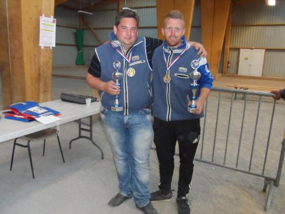 Ludovic TOUZAINT - Jefferson MARGRIN champions de la manche doublette masculine 2017