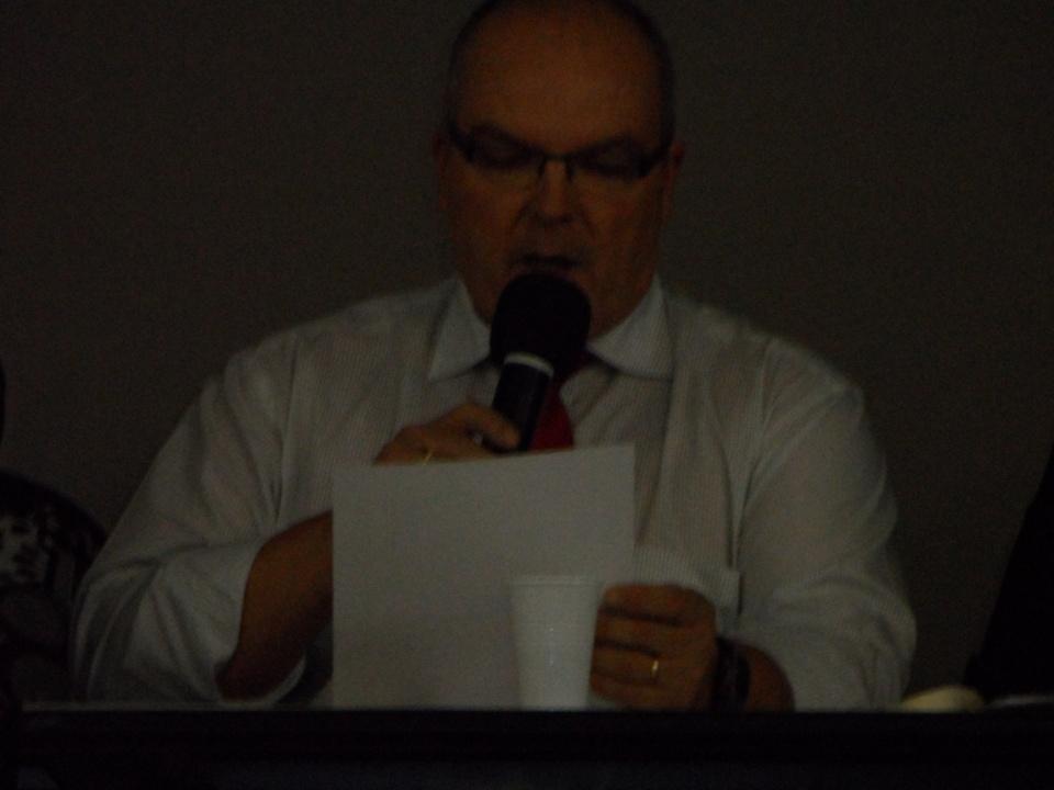 Le président des arbitres, Cyrille MELKIOR