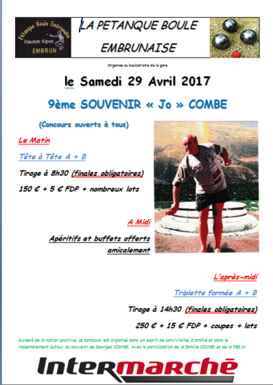 Challenge Jo Combe