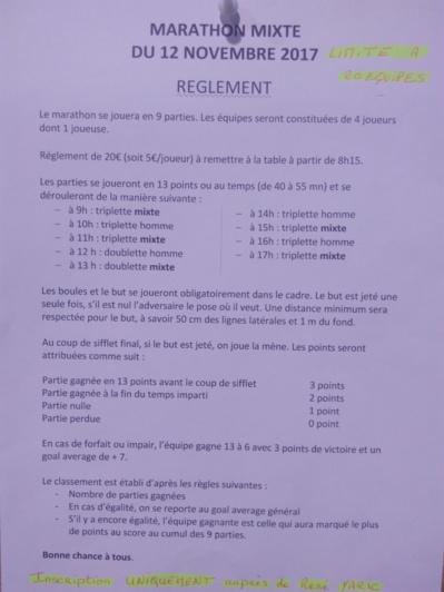 La Pétanque Boule Embrunaise organise un Marathon de Pétanque Mixte le 12 Novembre au Boulodrome de la Gare.4 Joueurs(euses).20 euros par équipe .de 9h à19h.inscription au n°0652374186 YARIC René .un repas bouliste est prévu à midi 12euros