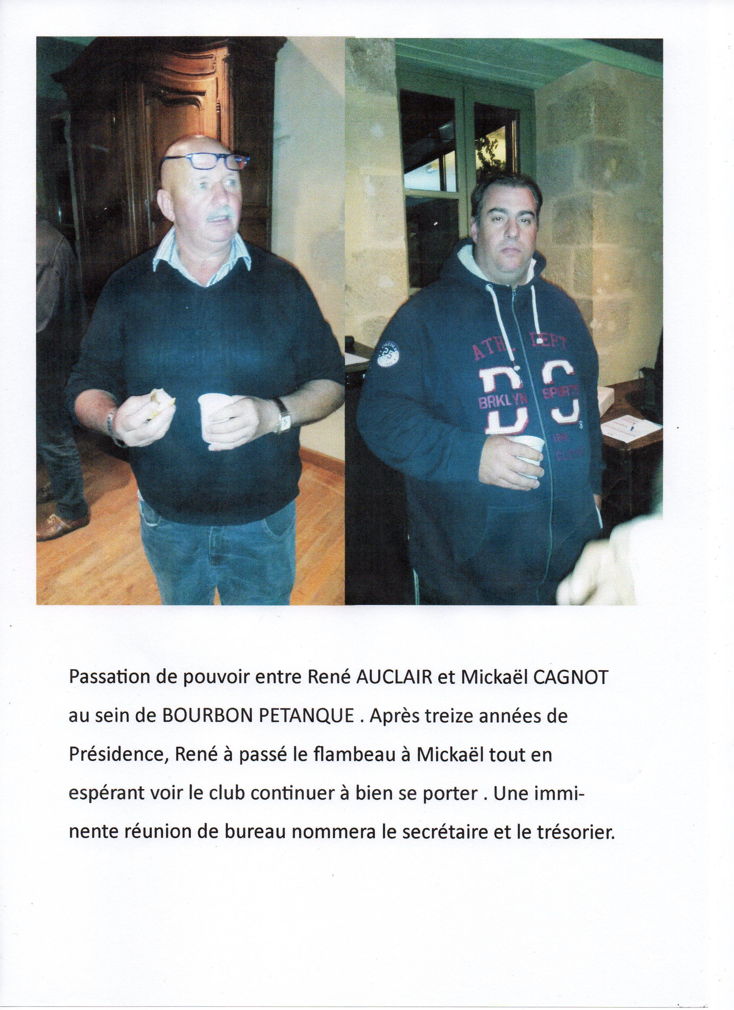 Présidence de Bourbon Pétanque