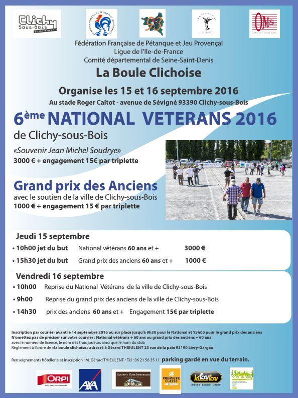 6ème National Vétéran à Clichy (93) +60ans
