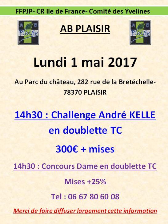Lundi 1 mai: Challenge André KELLE