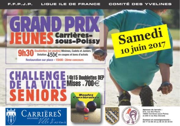 Boules Carriéroises: Challenge de la ville et Grand Prix Jeune