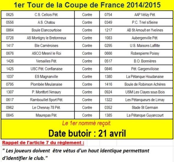 Coupe de france 2014 2015 - Date coupe de france 2015 ...