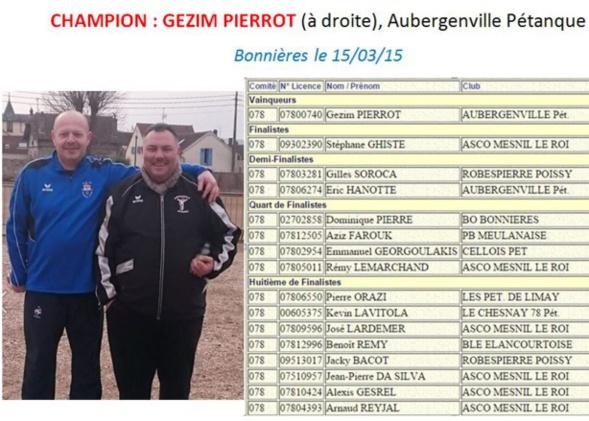 Championnat Départemental TàT Masculin 2015