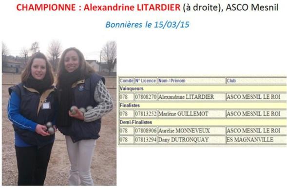 Championnat Départemental TT Féminin 2015
