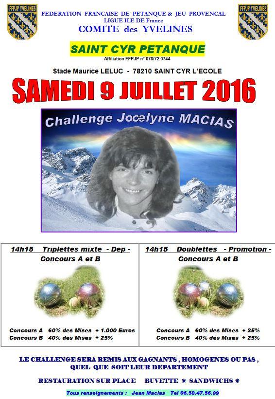 Challenge Jocelyne Macias (St Cyr)