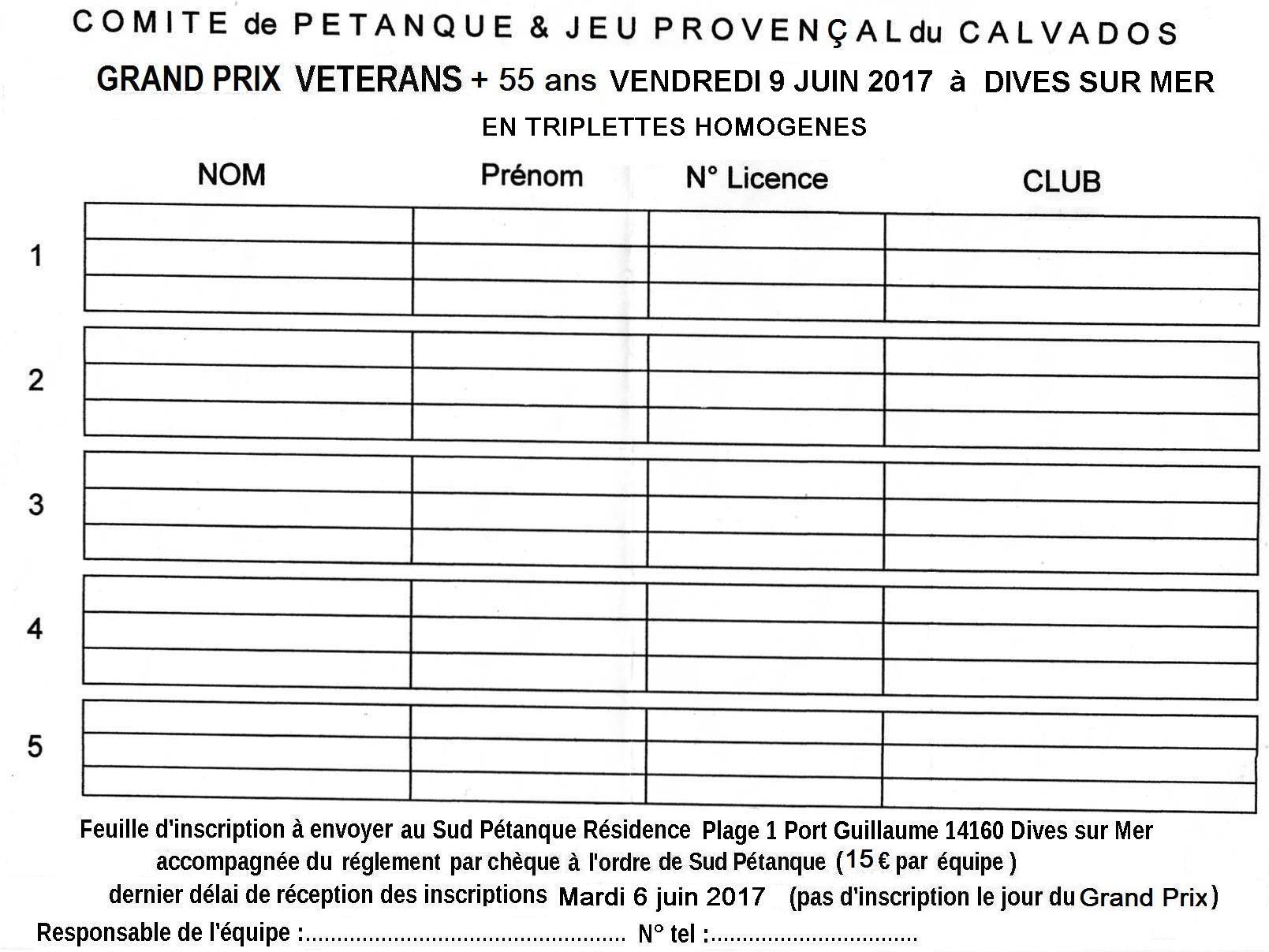 Grand Prix +55ans à Dives sur Mer (CD14)