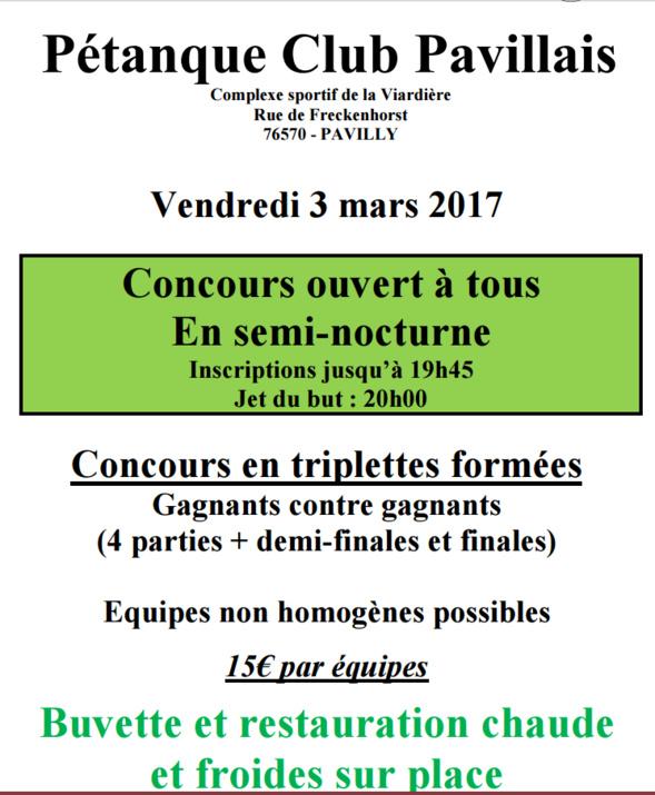 Nocturne à Pavilly le Vendredi 3 Mars