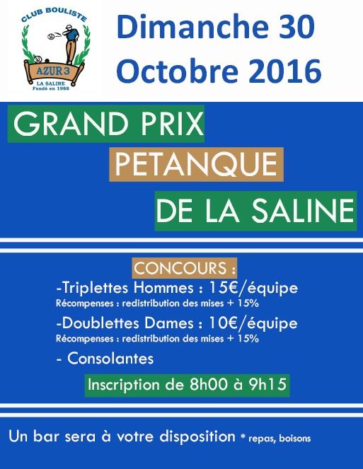 GRAND PRIX AZUR 3 LA SALINE