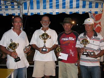 Albert Barraco  et Alain Bonanséa vainqueurs chez les vétérans (à gauche sur la photo)