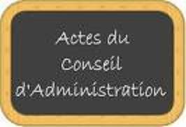 P.V des réunions du Conseil d'Administration