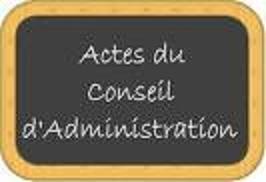 P.V des réunions du Conseil d'Administration 2EME SEMESTRE 2015