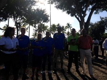 l'équipe vainqueur: Garciane Estelle/Techer Jean-Philippe/Garciane Andry Mickaël du club de Champ Fleuri
