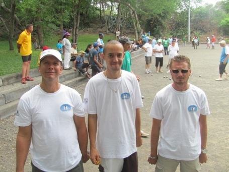 Gégé, Fabien et Fabien étaient présents lundi mais n'ont pu malheureusement se qualifier